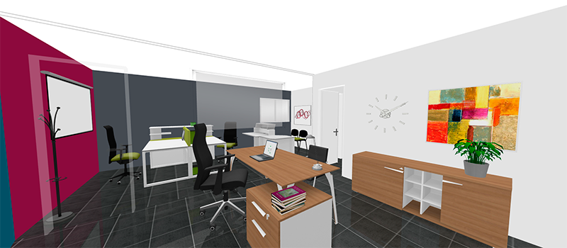3d office design program gautier office for Office design 3d